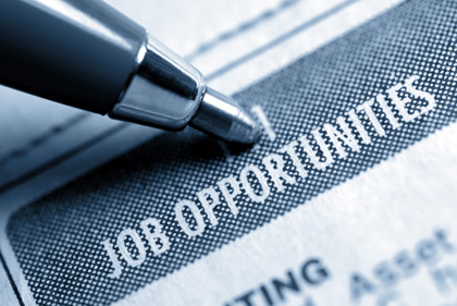 Job Opportunity Classified Advertising with Pen, Muted Duotone